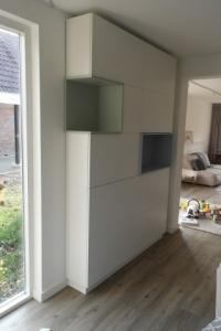 vakkenkast wit hoog smal gespoten mdf ontwerpen  rensma.nl mimeubels